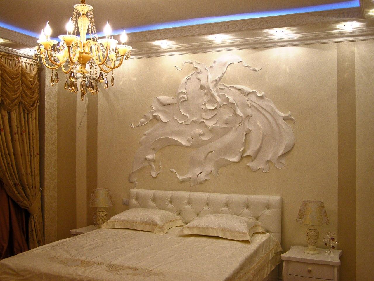 Декоративная лепнина на стенах фото